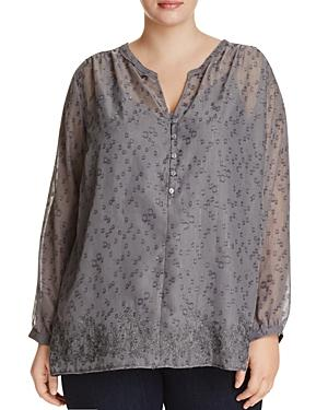 Nydj Plus Embroidered Blouse - 100% Exclusive