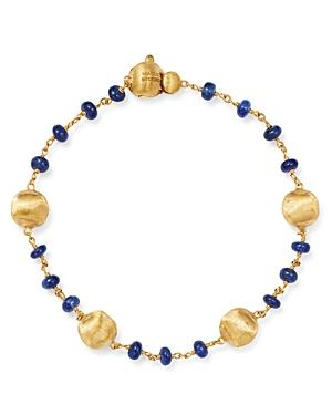 Marco Bicego 18k Yellow Gold Africa Precious Sapphire Beaded Bracelet