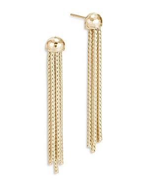 John Hardy 18k Yellow Gold Classic Chain Hammered Tassel Earrings