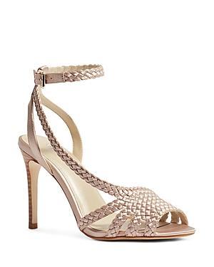 Karen Millen Women's Woven High-heel Sandals
