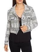 1.state Cropped Tweed Jacket