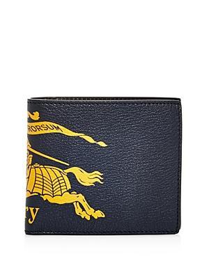 Burberry Crest Leather Bi-fold Wallet