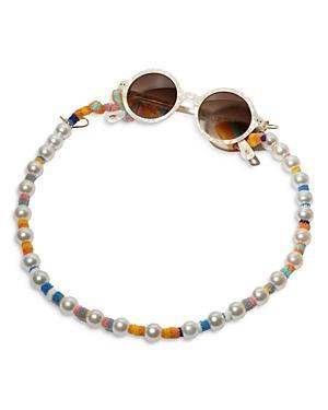 Lele Sadoughi Faux Pearl Sunglass & Mask Chain
