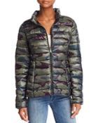 Aqua Packable Camo Puffer Coat - 100% Exclusive