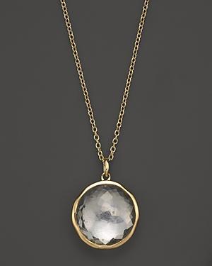Ippolita 18k Yellow Gold Lollipop Pendant Necklace In Clear Quartz