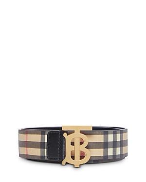 Burberry Vintage Check Monogram E-canvas Belt