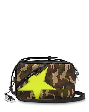 Golden Goose Deluxe Brand Yellow Camouflage Print Star Bag
