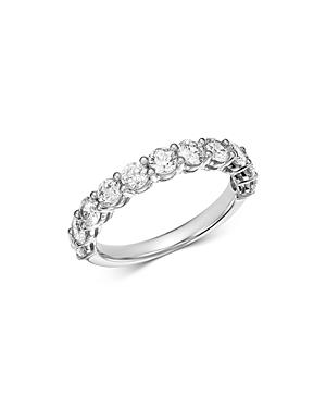 Bloomingdale's Diamond Shared Prong Band Ring In 14k White Gold, 1.50 Ct. T.w. - 100% Exclusive