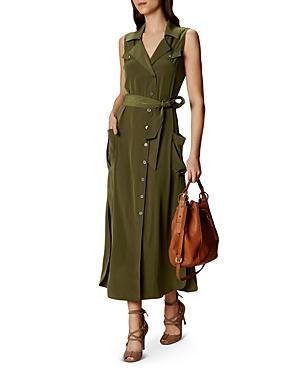 Karen Millen Satin Safari-style Shirt Dress