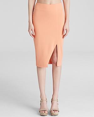 Lucy Paris Pencil Skirt - Ponte Coral