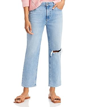 Paige Noella High Rise Straight Jeans In Montague Destructed