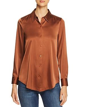 Eileen Fisher Petites Charmeuse Button-down Top