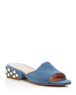 Stuart Weitzman Sliderpearl Suede Slide Sandals - 100% Bloomingdale's Exclusive