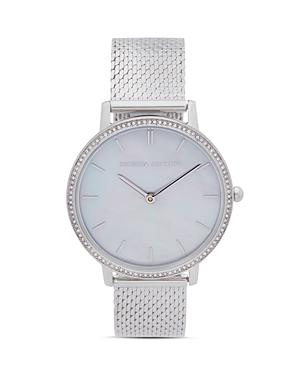 Rebecca Minkoff Major Pave Detail Mesh Bracelet Watch, 35mm