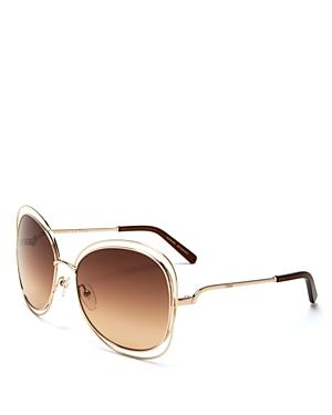 Chloe Carlina Oversized Sunglasses