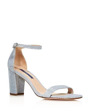 Stuart Weitzman Women's Nearly Nude Block Heel Sandals