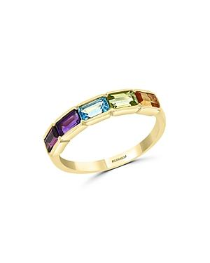 Bloomingdale's Rainbow Gemstone Ring In 14k Yellow Gold -100% Exclusive