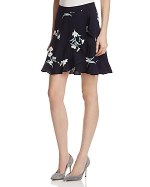Aqua Floral Skirt