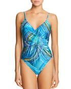 Gottex Tourmaline V-neck One Piece Swimsuit