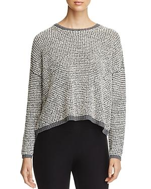 Eileen Fisher Petites Cropped Popcorn Knit Sweater