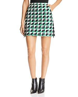 Emporio Armani Multicolor Geo-print Mini Skirt