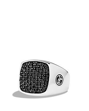 David Yurman Pave Signet Ring With Black Diamonds