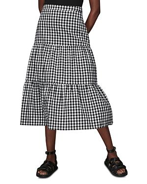 Whistles Tiered Gingham Skirt