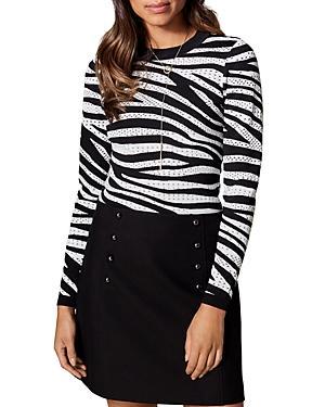 Karen Millen Zebra Stripe Sweater