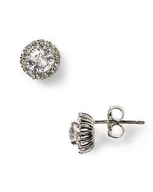 Nadri Sterling Pave Stud Earrings