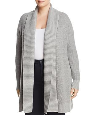 Michael Michael Kors Plus Shawl Collar Waffle Knit Cardigan
