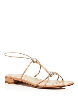 Stuart Weitzman Tweety Swarovski Crystal Embellished Sandals