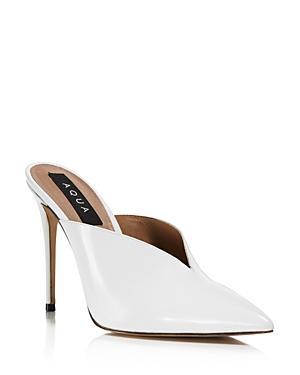 Aqua Women's Pointed Toe High Heel Mules - 100% Exclusive