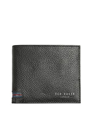 Ted Baker Striped Leather Coin Pocket Wallet
