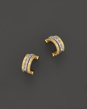 Marco Bicego 18k Gold Small Hoop Goa Earrings With Diamonds