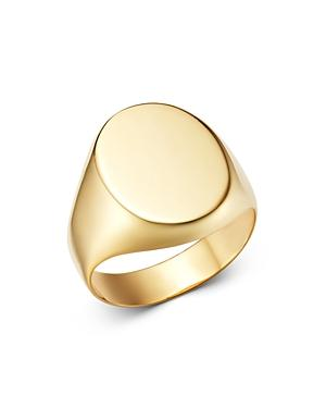 Moon & Meadow 14k Yellow Gold Oval Signet Ring - 100% Exclusive