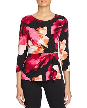 Calvin Klein Ruched Floral Print Top