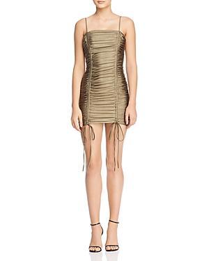 Tiger Mist Zion Ruched-drawstring Body-con Dress