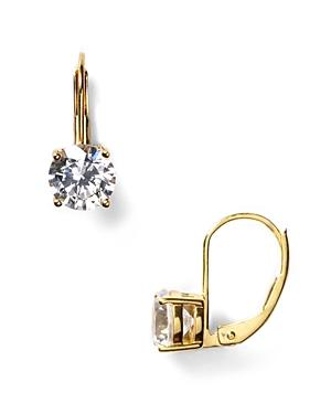 Crislu Solitaire Leverback Earrings, 2.0 Ct. T.w.