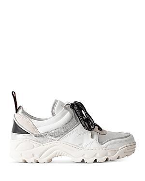 Zadig & Voltaire Women's Metallic Trim Low-top Sneakers
