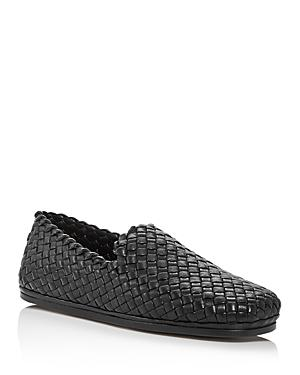 Bottega Veneta Men's Woven Leather Loafers