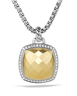David Yurman Albion Pendant With Diamonds And Gold