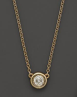 Diamond Solitaire Pendant Necklace In 14k Yellow Gold, .25 Ct. T.w.