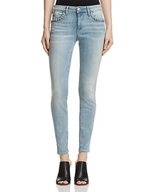 True Religion Halle Super Skinny Jeans In Cloud Nine