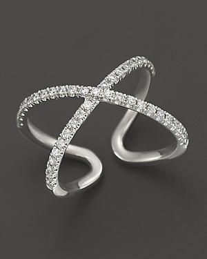 Diamond Midi Ring In 14k White Gold, .35 Ct. T.w.