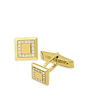 Bloomingdales Diamond Square Cufflinks In 14k Yellow Gold - 100% Exclusive