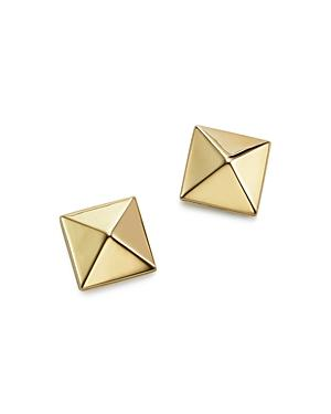 Bloomingdale's 14k Yellow Gold Medium Pyramid Post Earrings - 100% Exclusive
