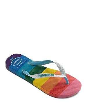 Havaianas Women's Top Pride Rainbow Print Flip Flops