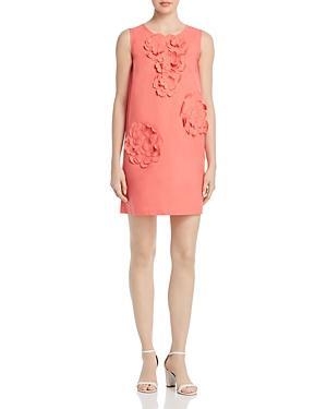Paule Ka Poplin Floral-applique Cotton Mini Dress