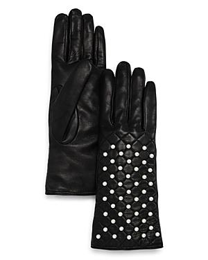 Bloomingdale's Fancy Leather Gloves