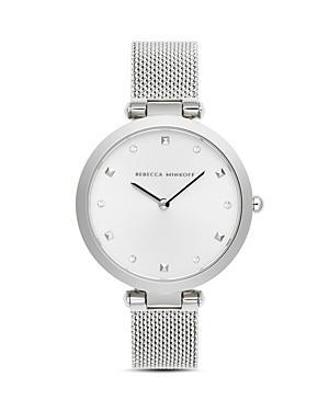 Rebecca Minkoff Nina Silver-tone Mesh Bracelet Watch, 33mm